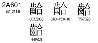 U+2A601