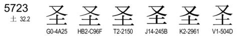 U+5723