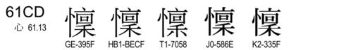 U+61CD