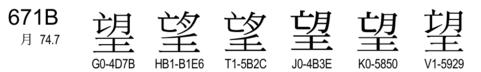 U+671B