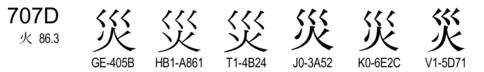 U+707D