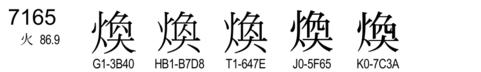 U+7165