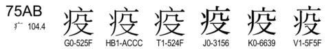 U+75AB