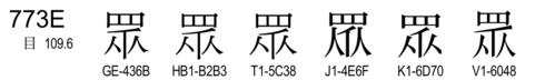 U+773E