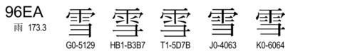 U+96EA