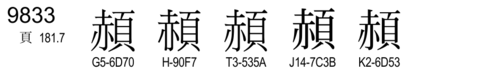 U+9833